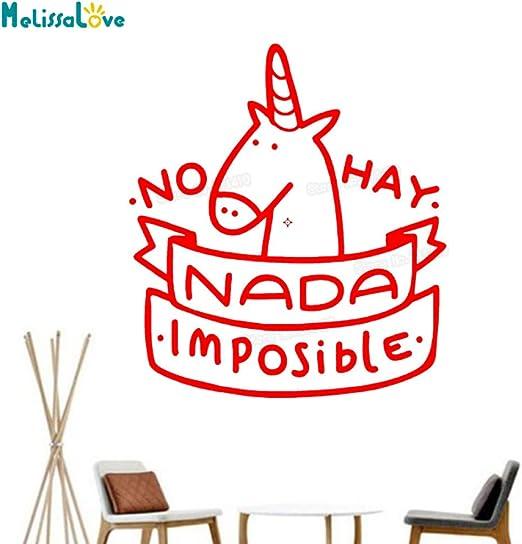 yaoxingfu Etiqueta de la Pared del bebé Nada es Imposible ...