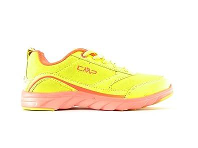 CMP Halbschuh Schnürer Sportschuh Sneaker Gelb Orange Neon
