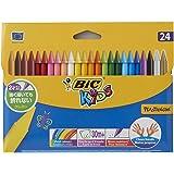 BIC Kids Plastidecor Craies de Coloriage - Etui Carton de 24
