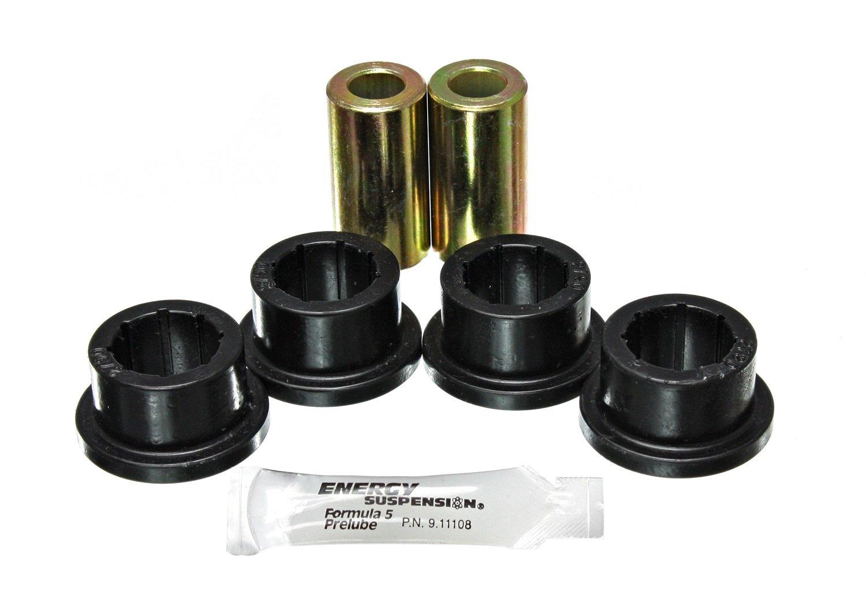 Energy Suspension 8.7105G Track Bar Bushing Set Black Rear Performance Polyurethane Track Bar Bushing Set