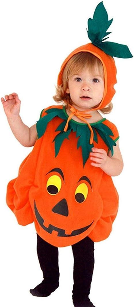 XINSH Disfraz Halloween Calabaza Mono Niños Costume Cosplay ...