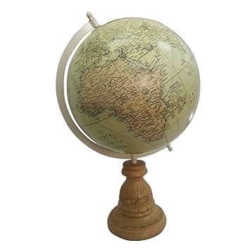 Vintage Stil Globus Mit Holzstander Dekorativen Zweck 10 Quothoch Stehende Weltkarte Tischplatte 5quot