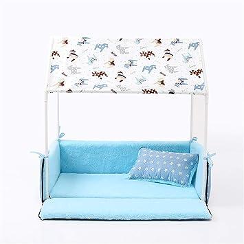 ekcnjs Ecnjs Home Shape Cama para Perros + Tienda de campaña caseta para Perros Pet extraíble acogedora casa para Cachorros Perros Gato Animales pequeños, ...