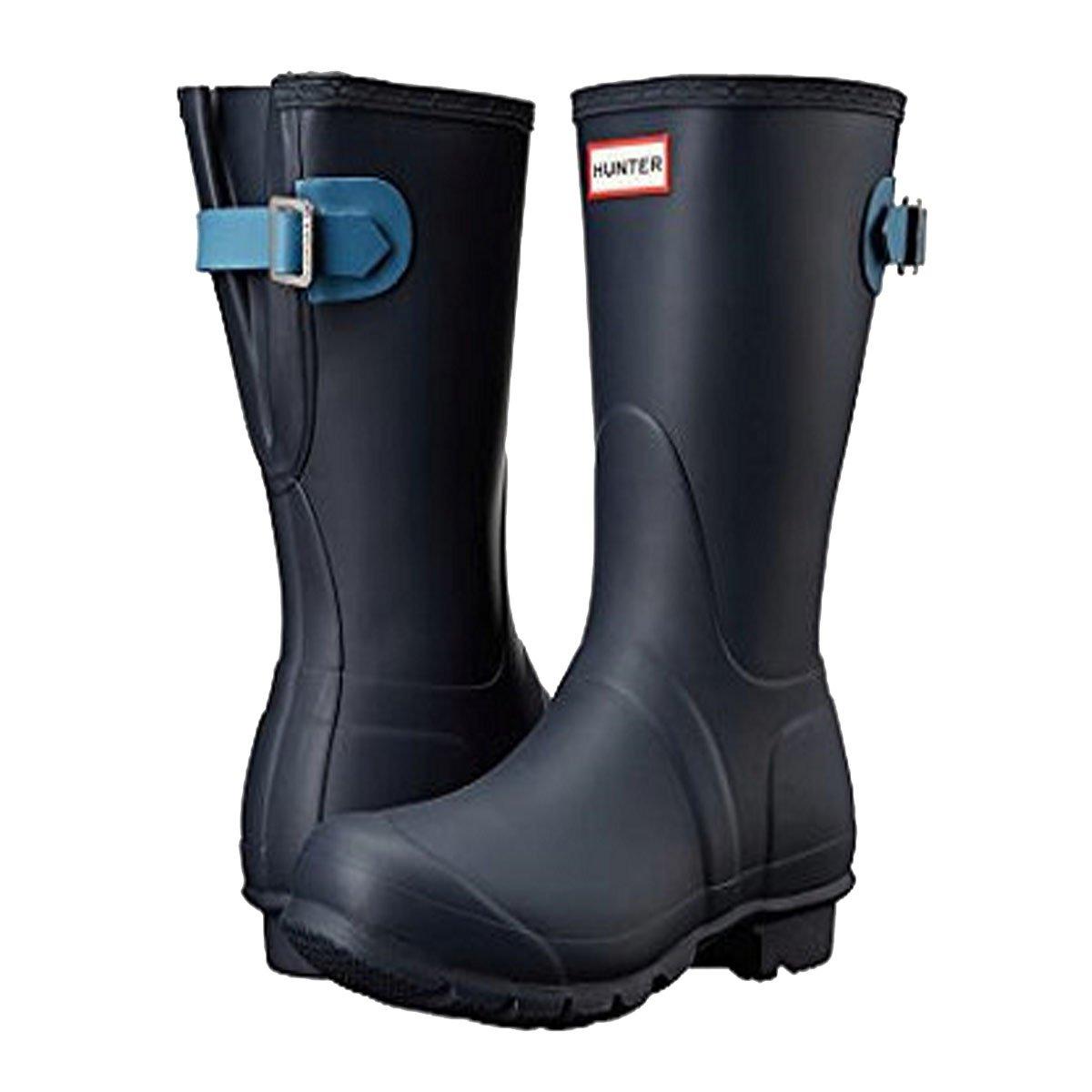 Hunter Original Back Adjustable Short Navy/Pale Air Force Women's Rain Boots