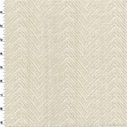 Cream Ivory Chevron Chenille Woven Home Decorating Fabric, Fabric by The ()