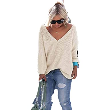 d3b9c73832 Autumn Winter Sweaters Women Fashion Warm Pullover Knitted Female V-Neck  Long Sleeve Loose Sweater