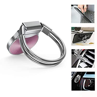 Universal Phone Ring Holder Stand Works with Magnetic Air Vent/Dashboard Car Phone Holder 360 Degree Rotation Kickstand Compatible with iPhone Xs MAX, iPhone Xs, iPhone XR and Other Smartphones