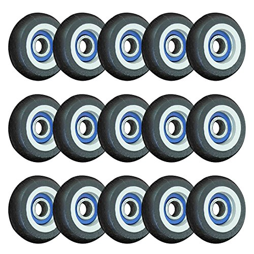 13 Drawer Ball Bearing Mobile (Rubber Coated Small pulley roller,15pcs Eagles 5x23x7.5mm Ball Bearings Roller for Door Windows)