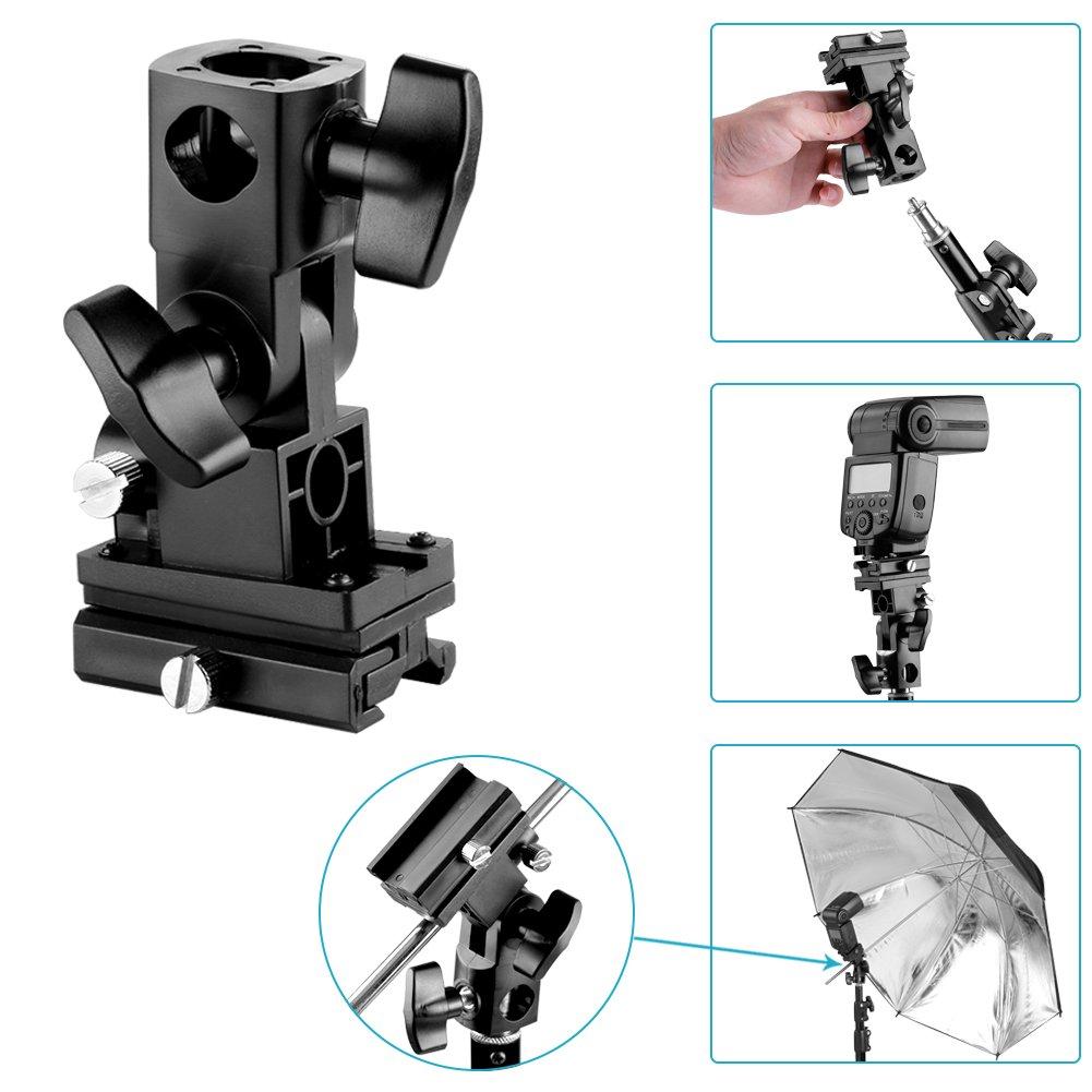 Neewer Flash Bracket Swivel Umbrella Holder Studio Tilting Type B For Canon 430EX II