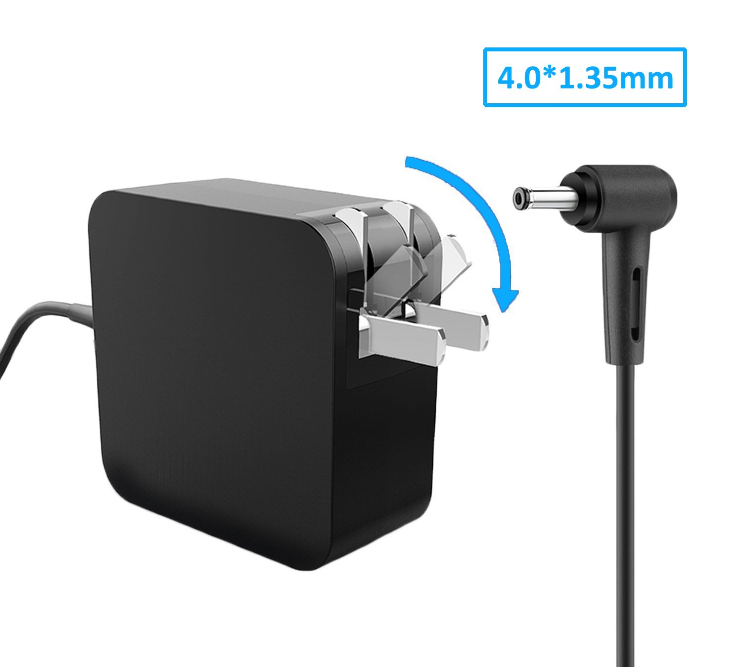 Portable Laptop Power AC Adapter 19V 2.37A 45W Charger for Asus X540 15.6'' Ultra Slim Full HD Notebook Computer, Intel Core i5-5200U 2.2GHz Asus Silm Power Supply