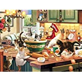 Buffalo Games 17080-Cats Collection-Kitten Kitchen Capers-750 Piece Jigsaw Puzzle