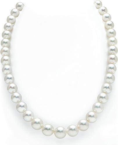 9-Millimeter 12 mar del sur de Australia blanco collar de perlas cultivada - calidad AAAA