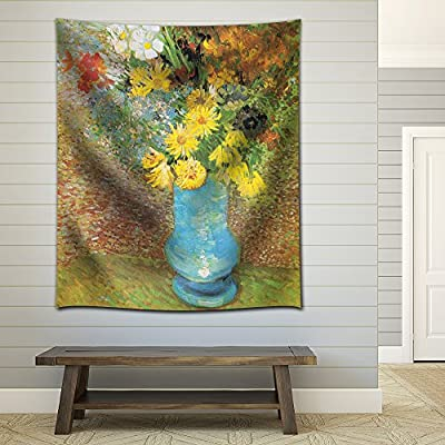 Flowers in a Blue Vase 1887 by Vincent Van Gogh, Made With Top Quality, Majestic Piece of Art