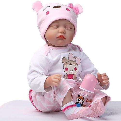NPK 22 Pulgadas Lifelike Reborn Bebé Muñecas Vinilo de Silicona Realista Hecho a Mano Bebés Para Niñas Juguetes Reborn Baby Dolls 55cm, Conveniente Para la Edad 3 Más