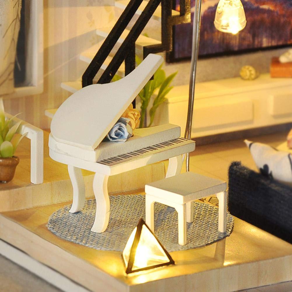 Innovative Handarbeit mit Staubschutz und Musik DIY Hut Kleines Holzhaus passt zum Geburtstagsgeschenk von JINCLONDER