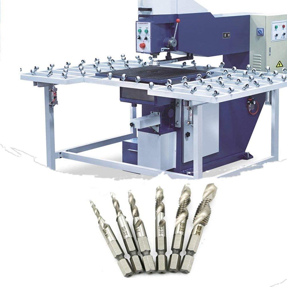 6PC Titanium Coated HSS Drill Bit Set for Metal Power Tools Twist Drill Silver