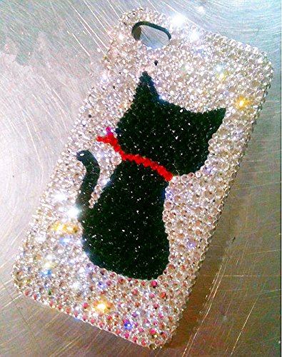 Crystal iPhone 7 Case Custom Samsung Galaxy S8 Plus Case Note 8 Galaxy S9 Plus Covers Black Cat Bling Women Cell Phone Cases