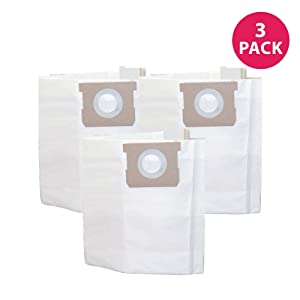 Think Crucial Replacements for Vacmaster 6-Gallon Bags Fit VQ607SFD Stainless Steel Wet & Dry Vacs, Compatible with Part # VDBS (3 Pack)