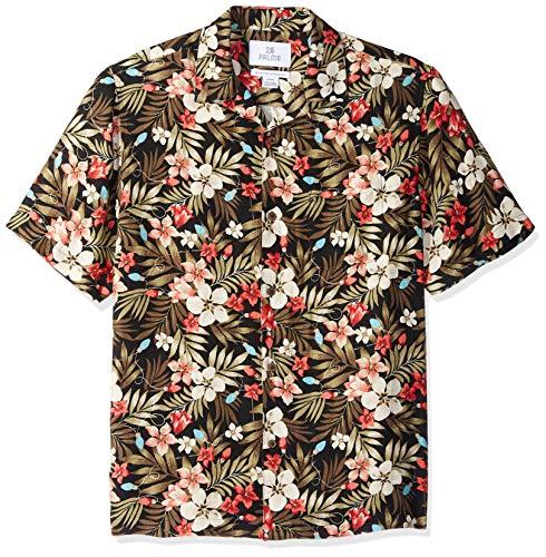 (28 Palms Men's Relaxed-Fit Silk/Linen Tropical Hawaiian Shirt, Holiday Lights, XX-Large)