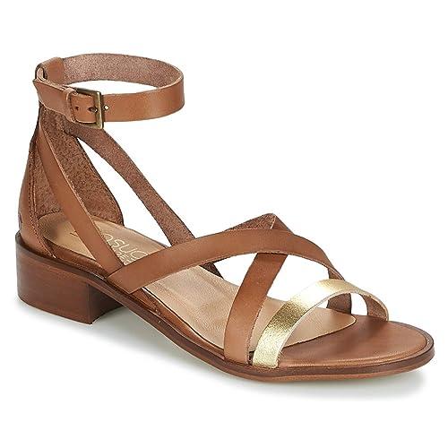 vente chaude en ligne 17d69 581b1 casual attitude COUTIL Sandales et Nu-Pieds Femmes Camel/Or Sandales et  Nu-Pieds