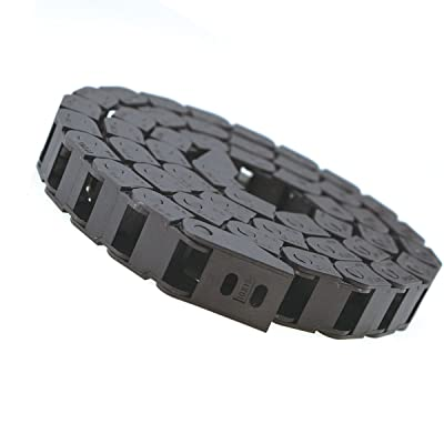 URBEST Plastic Drag Chain Cable Carrier with End Connectors for Electrical CNC Router Machines 10 x 15mm Black: Industrial & Scientific