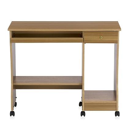 Nilkamal Zeinth Computer Table (Glossy Finish, Teak)