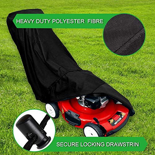 Ationgle Riding Lawn Mower Cover -Large Lawn Mower Cover Waterproof Heavy Duty Polyester Oxford Lawn Mower Storage Shed Craftsman Lawn Mower Bag Replacement (74Lx25Wx39H)