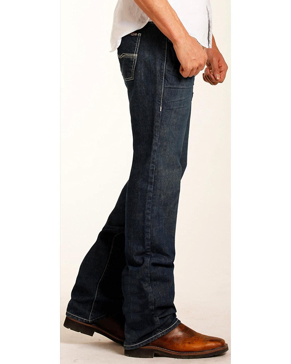 Rock /& Roll Cowboy Mens and Pistol Flame Resistant Jeans Straight Leg Blue 36W x 36L