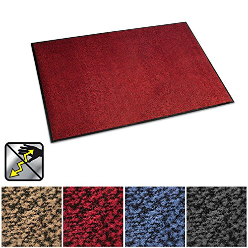 casa pura Anti-Static Entrance Mat | Indoor and Outdoor Front Door Mat | Entry Rug for Home and Business | Red | 16