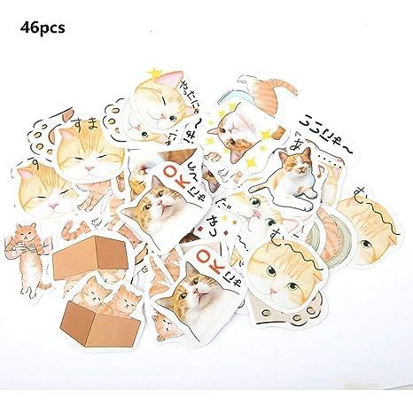 Album DIY Diary Sticker, 46pcs 1.5Inch Animal Cartoon Food ...