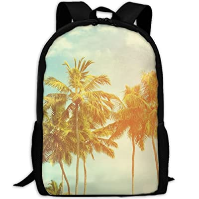 good Palm Trees At Tropical Coast Fashion Outdoor Shoulders Bag Durable Travel Camping Backpack For Adult