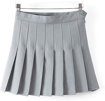 swall owuk Mujer Chica a de línea Escuela Uniforme Rock Minifalda ...