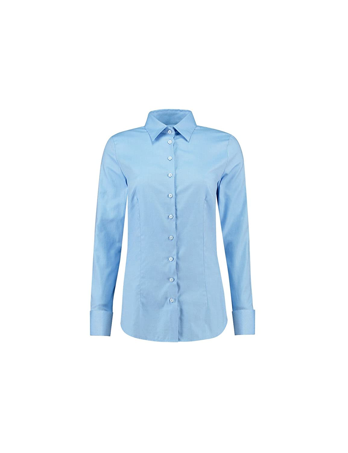 03e7d3fd6f68 HAWES & CURTIS Womens Executive Twill Fitted Shirt - Double Cuff - Cotton,  Blue, 6: Amazon.co.uk: Clothing