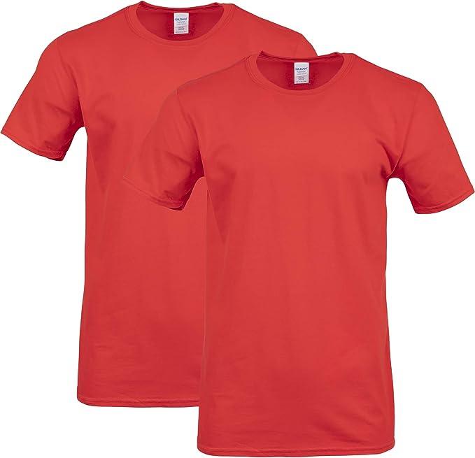 GILDAN Mens Fitted Cotton T-Shirt, 2-Pack Shirt