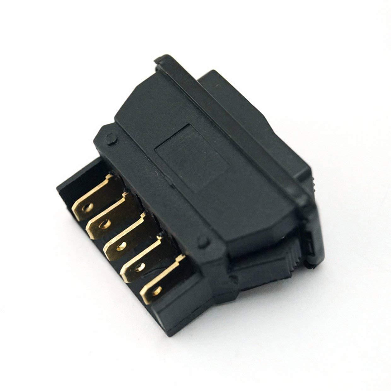 24V 20A con indicador de iluminaci/ón Accesorios para autom/óviles verde y negro MXECO Interruptor de elevalunas electrom/óvil universal de 5 pines 12V