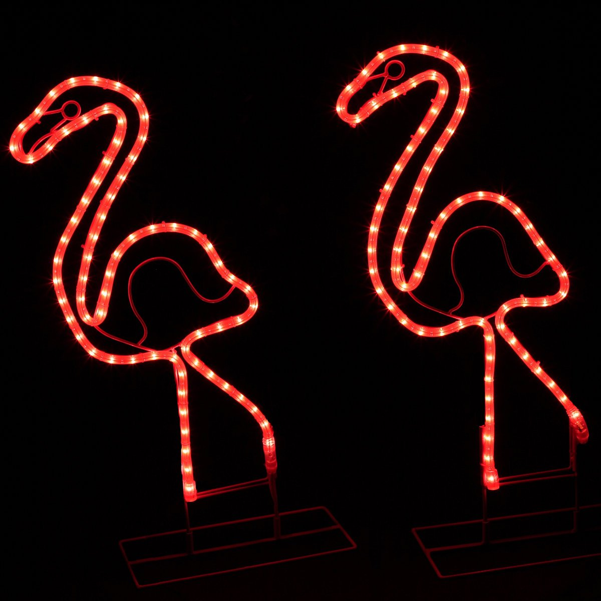 "24"" Tropical Lighted Pink Flamingo Rope Light Outdoor Yard Art Decoration Roman EEZ-RV-FLAMINGO"