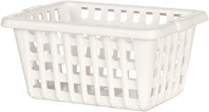 Dollhouse Miniature 1:12 White Laundry Basket by International Miniatures