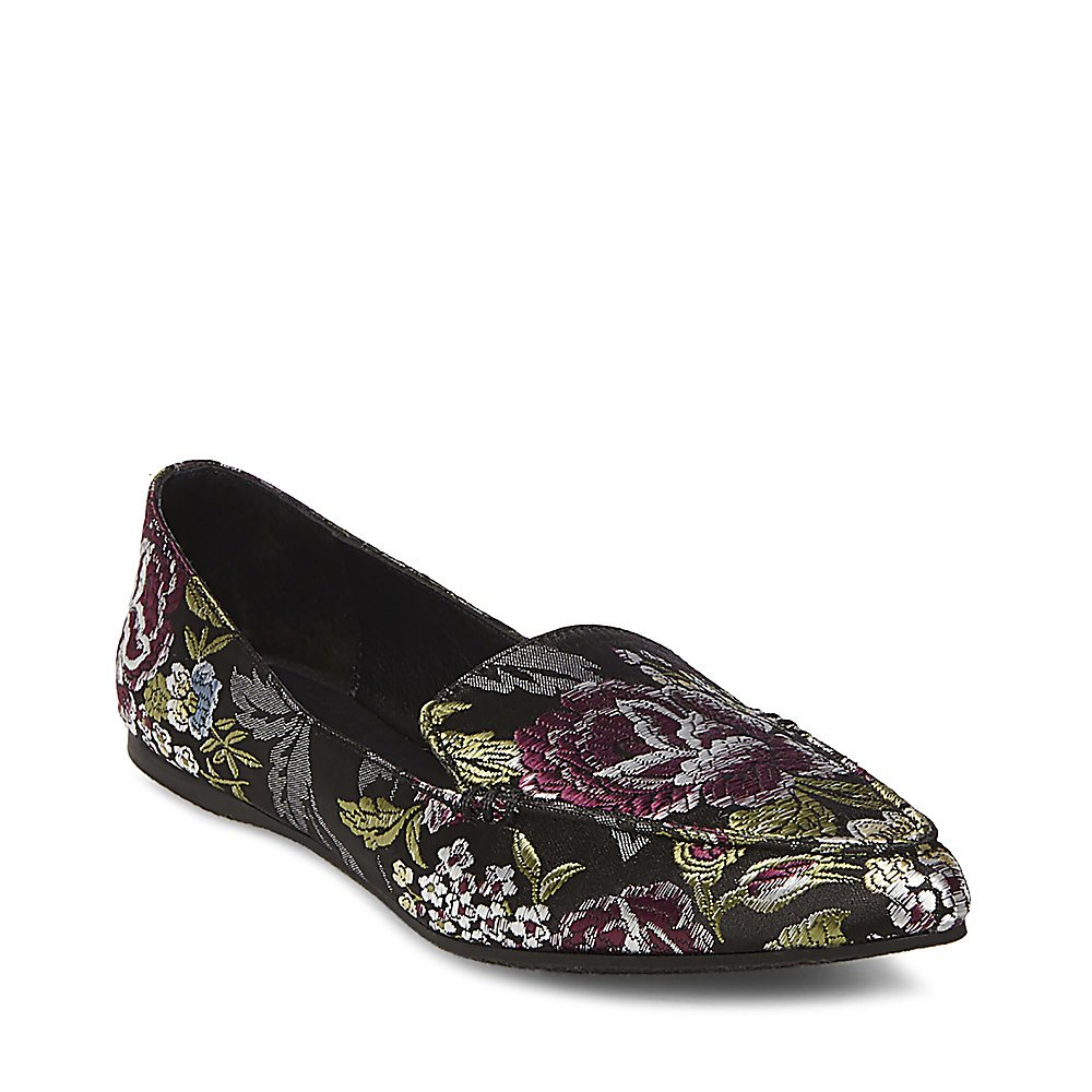 Steve Madden Women's Feather Loafer Flat B0788658RR 6 B(M) US Floral Multi