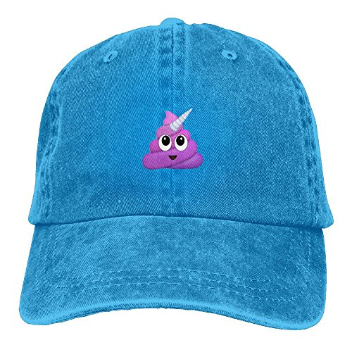 Adult UNICORN Poop Emojis Sports Adjustable Structured Baseball Cowboy Hat