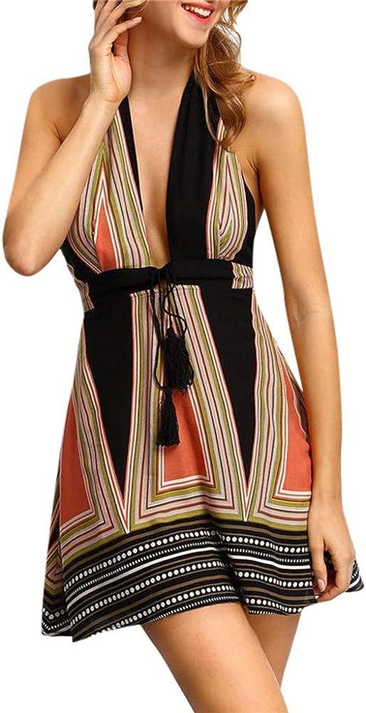 Vestido De Verano Mujer Impresión Mini Vestidos De Playa Vestidos ...