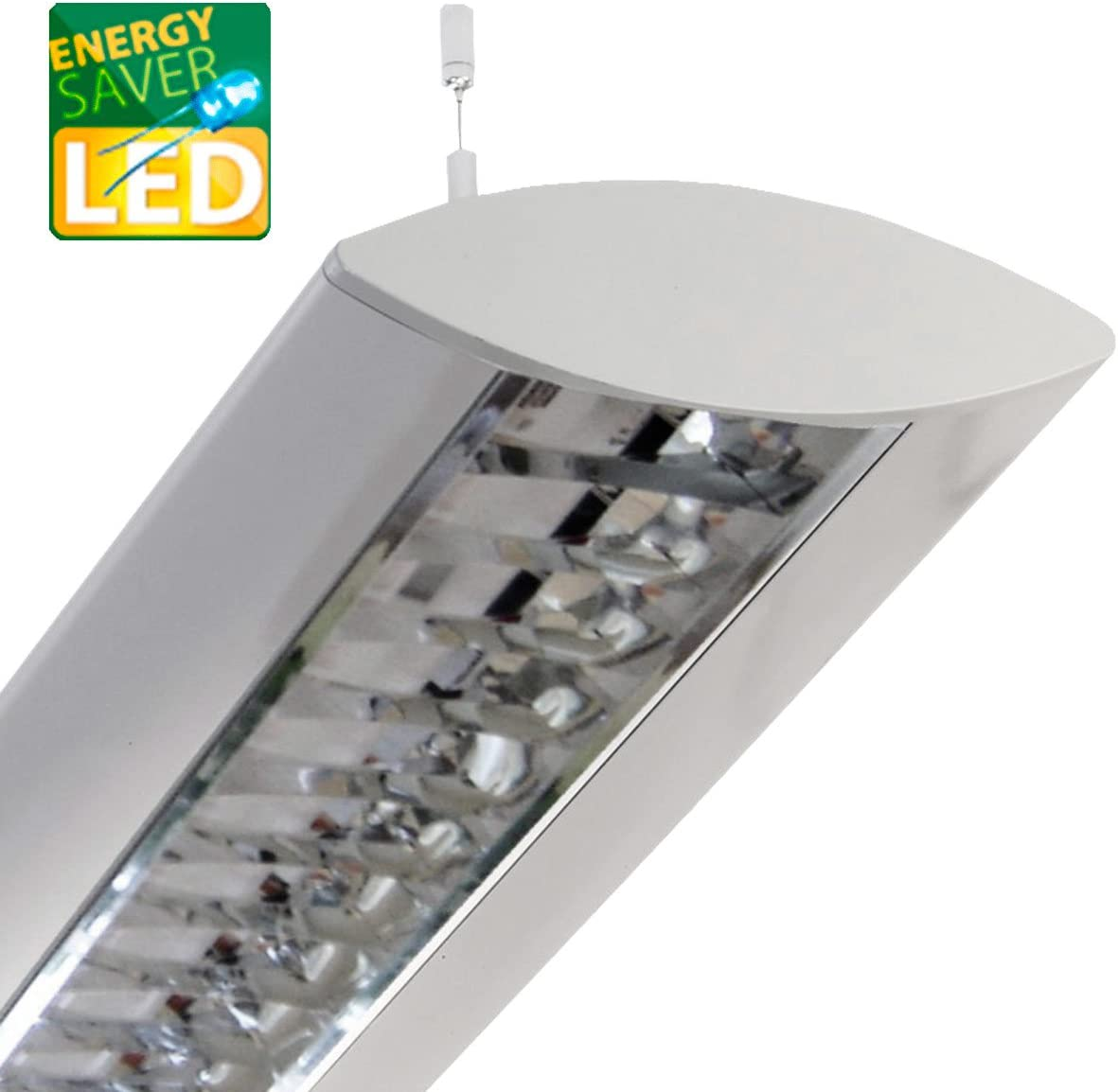 DESIGN Büro Pendelleuchte Silber Arbeitsplatzbeleuchtung Tageslicht Bürolampen