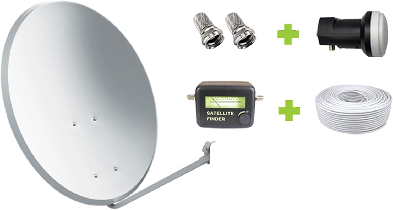 Kit Antena Parabólica GI 60 cm + LNB + 20m Cable coaxial + Localizador