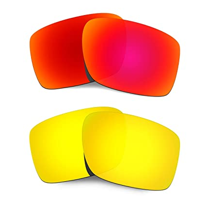 HKUCO Mens Replacement Lenses For Oakley Double Edge Red/24K Gold Sunglasses jqOPxZR