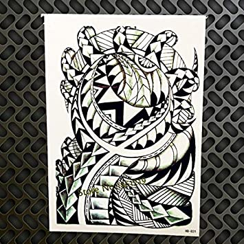 HXMAN 3pc Inglés Carta Punk Estilo Temporal Tatuaje Pegatina Gqs ...
