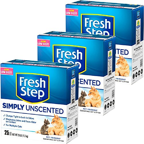 fresh-step-litter-multi-cat-scoopable-unscented-25-lb-pack-of-3