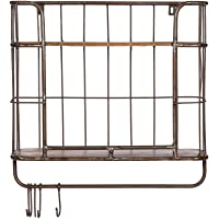 Priti Industrial Iron Wood Shelves Racks for Kitchen