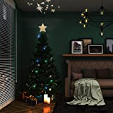 "EAMBRITE 9"" Hollow Gold Star Christmas Tree"