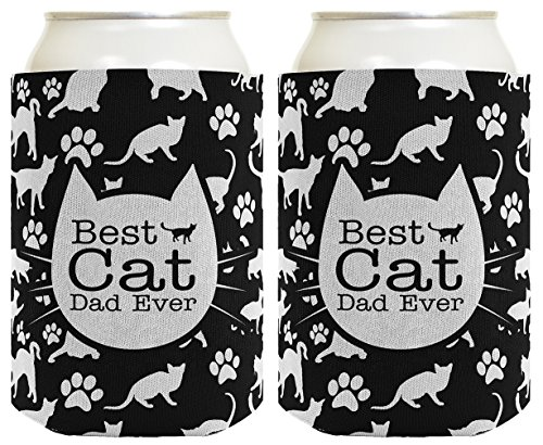 Guy Cat In Costume Fat (Cat Gifts for Cat Lovers Best Cat Dad Ever Funny Cat Lover Gifts Cat Memes Crazy Cat Guy Gifts Cat Gag Gifts 2 Pack Can Coolie Drink Coolers Coolies)