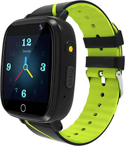 Kids Smart Watch GPS Tracker – Waterproof GPS Tracker Watch for Children Girls Boys with SOS Call Camera Touch Screen Game Alarm for Kids Boys and Girls Green