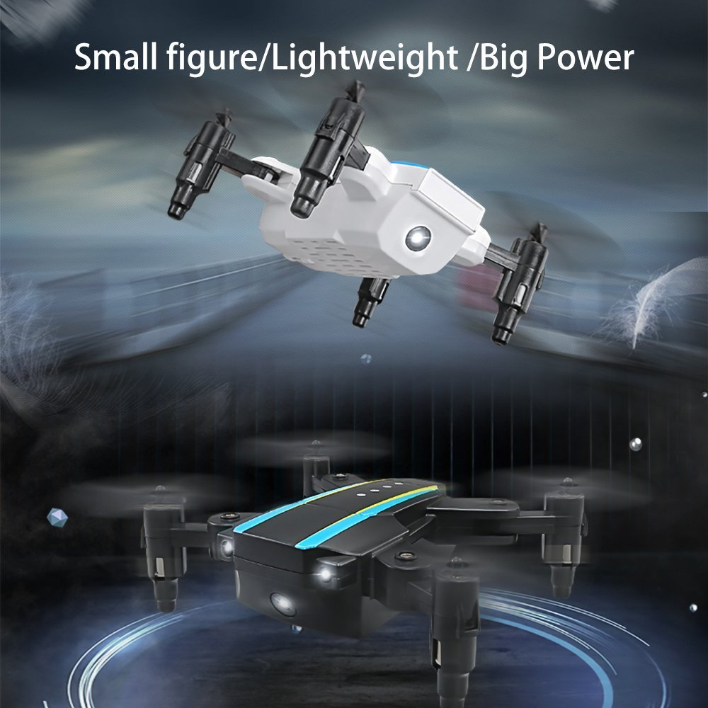 Black White Mini Quadcopter /& JJII KINGBOT H345 Micro Foldable Mini RC Drone Mini Dual-Aircraft Combination Quadcopter with 2 Set JJI